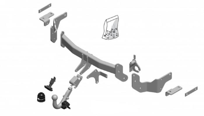 Anhängelast erhöhen Hyundai Santa Fe Typ DM 09. 2012- (horizontal abnehmbare AHK incl. Gutachten)