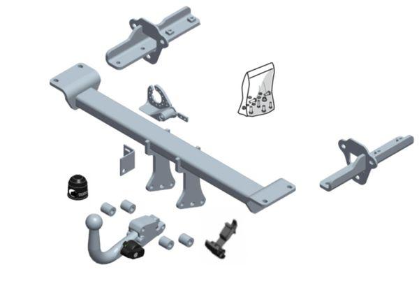 Anhängelast erhöhen Subaru XV Typ G4 Variante GX3/0A0, 02. 2012- (horizontal abnehmbare AHK incl. Gutachten)