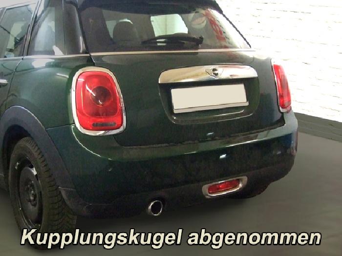 Anhängerkupplung für MINI-One, One D, Cooper - 2009-2016 R57 Cabrio, spez. Fzg. o. Anhängelast- nur Heckträgerbetrieb, Montage nur bei uns im Haus Ausf.:  vertikal
