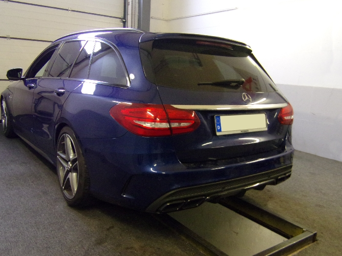 Anhängerkupplung Mercedes-AMG AMG C63 Limousine W205 Ausführung C63 (nur für Heckträgerbetrieb), Baureihe 2018-  vertikal