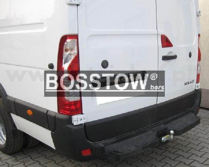 Anhängerkupplung für Renault-Master - 2014- Kasten, Bus, Kombi, Heckantrieb doppelbereift mit Trittbrett, Fzg. ohne Elektrosatz Vorbereitung Ausf.:  feststehend