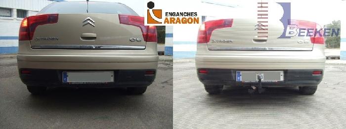 Anhängerkupplung für Citroen-C5 - 2004-2007 Limousine Ausf.:  vertikal