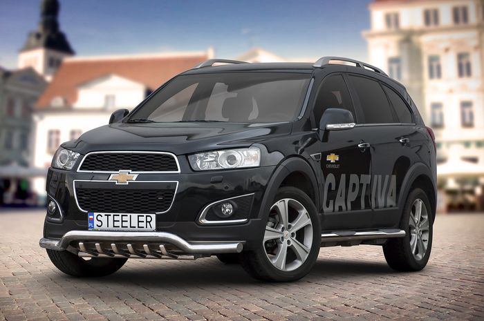 Frontschutzbügel Kuhfänger Bullfänger Chevrolet Captiva 2012 -2015, Sportbar UR 70mm, schwarz beschichtet