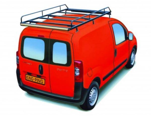 King Ping Dachträger, Gewerbe Transporter für Peugeot Partner, Radstand 2720mm, Flachdach, mit Heckklappe, Bj. 2007-