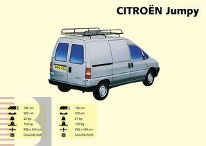 King Ping Dachträger, Gewerbe Transporter für Citroen Jumpy Radstand 3200mm, Bj. -2006