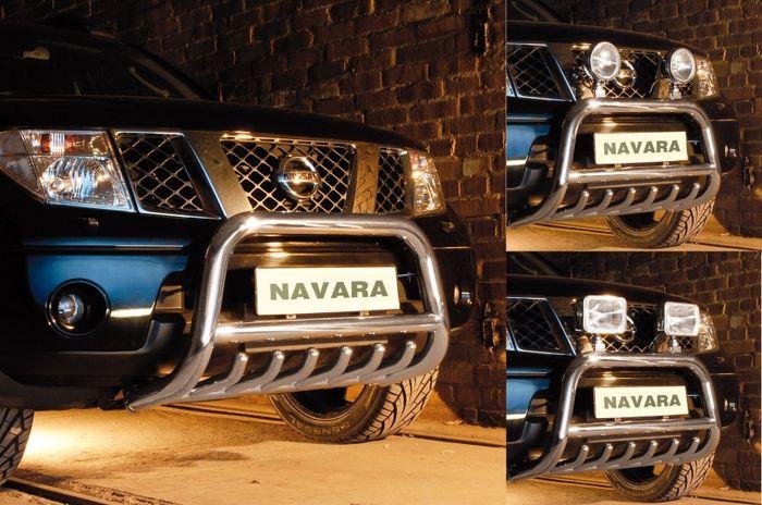 Frontschutzbügel Kuhfänger Bullfänger Nissan Navara (V6) 2010-2015, Steelbar QRU 70mm