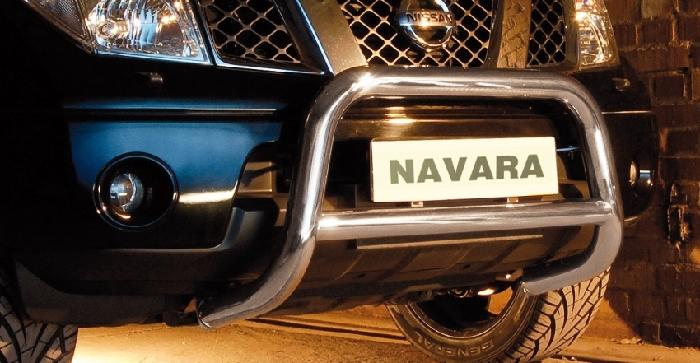 Frontschutzbügel Kuhfänger Bullfänger Nissan Navara (V6) 2010-2015, Steelbar Q 70mm, schwarz beschichtet
