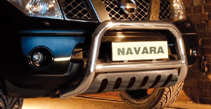Frontschutzbügel Kuhfänger Bullfänger Nissan Navara (V6) 2010-2015, Steelbar QFU 70mm, schwarz beschichtet