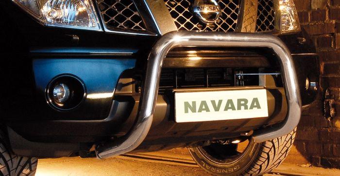 Frontschutzbügel Kuhfänger Bullfänger Nissan Navara (V6) 2010-2015, Steelbar 70mm, schwarz beschichtet