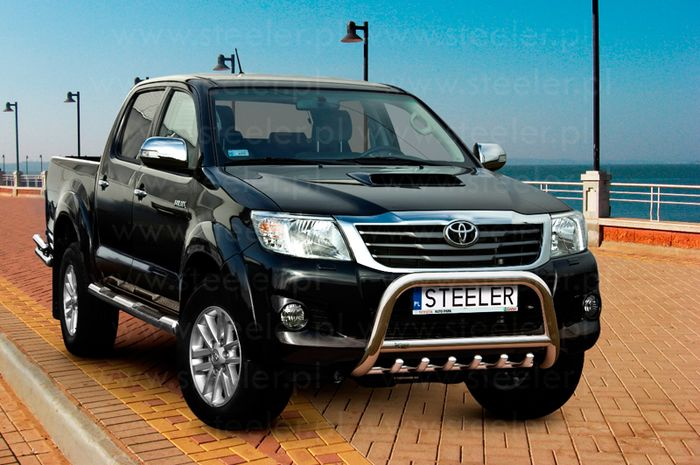Frontschutzbügel Kuhfänger Bullfänger Toyota Hi-Lux 2006-2011, Steelbar QRU 70mm, schwarz beschichtet