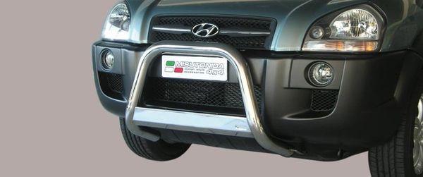 Frontschutzbügel Kuhfänger Bullfänger Hyundai Tucson 2004-2010, Medium Bar 63mm Edelstahl Omologato Inox