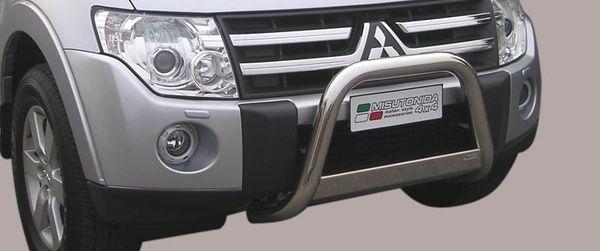 Frontschutzbügel Kuhfänger Bullfänger Mitsubishi Pajero 3-türig 2012-2014, Medium Bar 63mm Edelstahl Omologato Inox