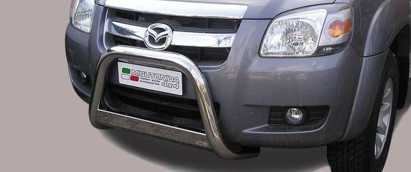 Frontschutzbügel Kuhfänger Bullfänger Mazda BT50 Double Cab 2007-2009, Medium Bar 63mm Edelstahl Omologato Inox