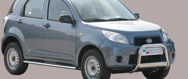 Frontschutzbügel Kuhfänger Bullfänger Daihatsu Terios CX Version 2009-, Medium Bar 63mm Edelstahl Omologato Inox