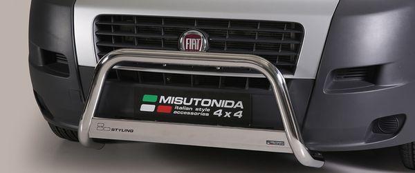 Frontschutzbügel Kuhfänger Bullfänger Fiat Ducato 2006-2014, Medium Bar 63mm Edelstahl Omologato Inox