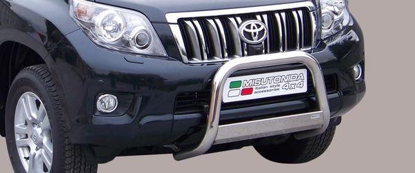 Frontschutzbügel Kuhfänger Bullfänger Toyota Land Cruiser 150/J15 2009-2013, Medium Bar 63mm Edelstahl Omologato Inox