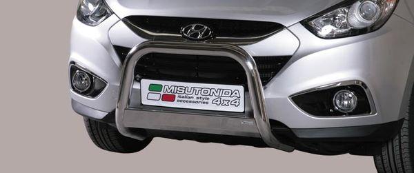 Frontschutzbügel Kuhfänger Bullfänger Hyundai IX35 2010-2015, Medium Bar 63mm Edelstahl Omologato Inox