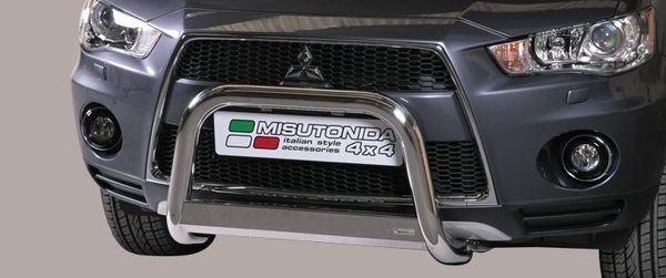 Frontschutzbügel Kuhfänger Bullfänger Mitsubishi Outlander 2010-2012, Medium Bar 63mm Edelstahl Omologato Inox