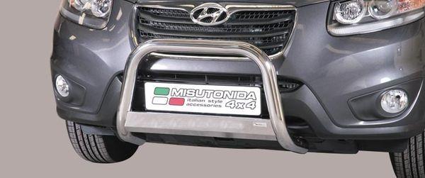 Frontschutzbügel Kuhfänger Bullfänger Hyundai Santa Fe 2010-2012, Medium Bar 63mm Edelstahl Omologato Inox