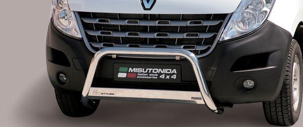 Frontschutzbügel Kuhfänger Bullfänger Renault Master 2010-, Medium Bar 63mm Edelstahl Omologato Inox