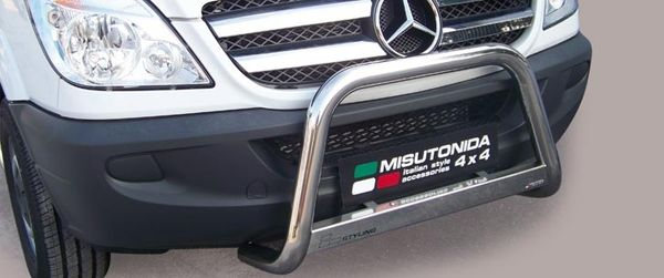 Frontschutzbügel Kuhfänger Bullfänger Mercedes Sprinter 2006-2013, Medium Bar 63mm Edelstahl Omologato Inox