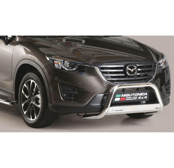 Frontschutzbügel Kuhfänger Bullfänger Mazda CX-5 2015-, Medium Bar 63mm Edelstahl Omologato Inox