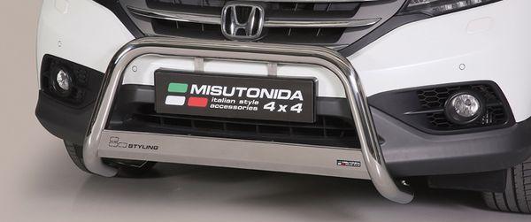 Frontschutzbügel Kuhfänger Bullfänger Honda CR-V 2013-2016, Medium Bar 63mm Edelstahl Omologato Inox