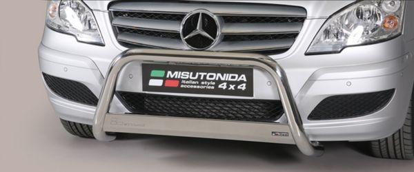 Frontschutzbügel Kuhfänger Bullfänger Mercedes Vito/Viano 2010-2014, Medium Bar 63mm Edelstahl Omologato Inox
