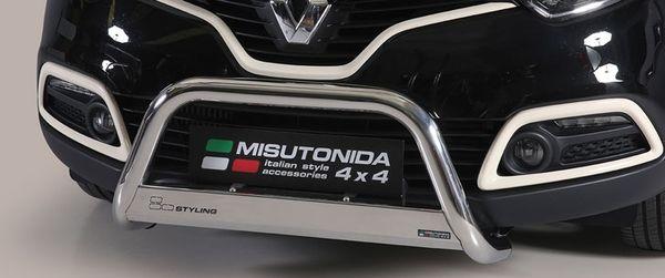Frontschutzbügel Kuhfänger Bullfänger Renault Captur 2013-2017, Medium Bar 63mm Edelstahl Omologato Inox