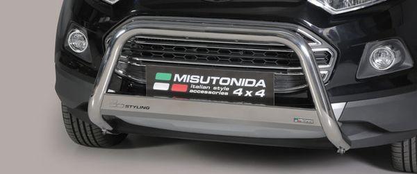 Frontschutzbügel Kuhfänger Bullfänger Ford Ecosport 2014-, Medium Bar 63mm Edelstahl Omologato Inox