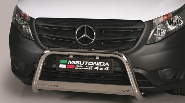 Frontschutzbügel Kuhfänger Bullfänger Mercedes Vito/Viano 2015-, Medium Bar 63mm Edelstahl Omologato Inox