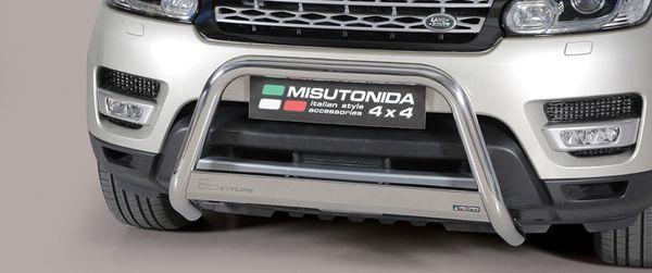 Frontschutzbügel Kuhfänger Bullfänger Landrover Range Rover Sport 2014-, Medium Bar 63mm Edelstahl Omologato Inox