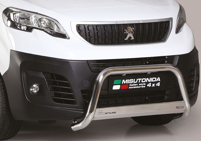 Frontschutzbügel Kuhfänger Bullfänger Peugeot Expert 2016-, Medium Bar 63mm Edelstahl Omologato Inox