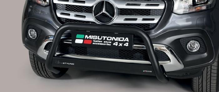 Frontschutzbügel Kuhfänger Bullfänger Mercedes X-Klasse (X470) 2017-, Medium Bar 63mm schwarz pulverbeschichtet