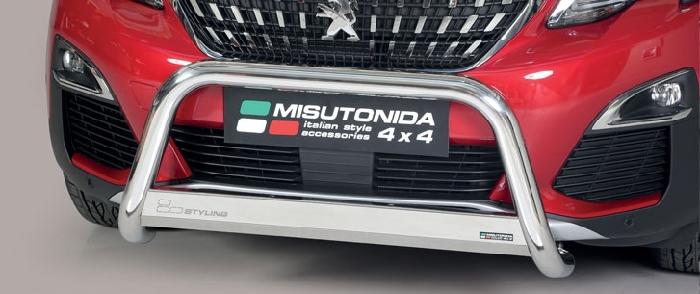 Frontschutzbügel Kuhfänger Bullfänger Peugeot 3008 2016-, Medium Bar 63mm Edelstahl Omologato Inox