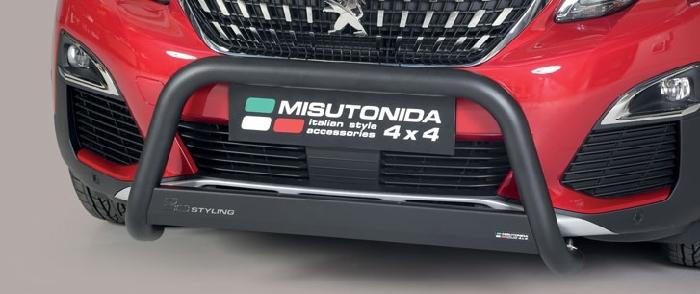 Frontschutzbügel Kuhfänger Bullfänger Peugeot 3008 2016-, Medium Bar 63mm schwarz pulverbeschichtet