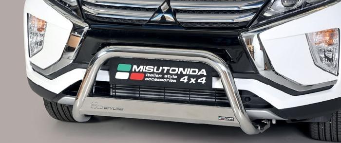 Frontschutzbügel Kuhfänger Bullfänger Mitsubishi Eclipse Cross 2018-, Medium Bar 63mm Edelstahl Omologato Inox