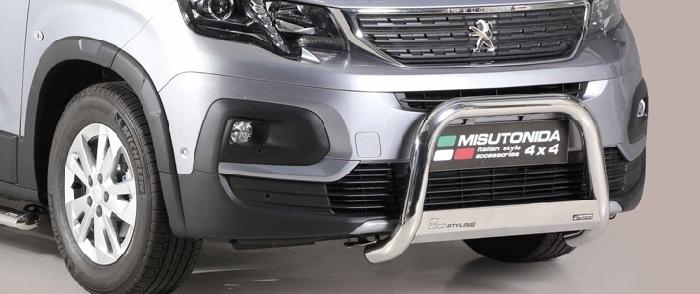 Frontschutzbügel Kuhfänger Bullfänger Peugeot Rifter 2018-, Medium Bar 63mm Edelstahl Omologato Inox