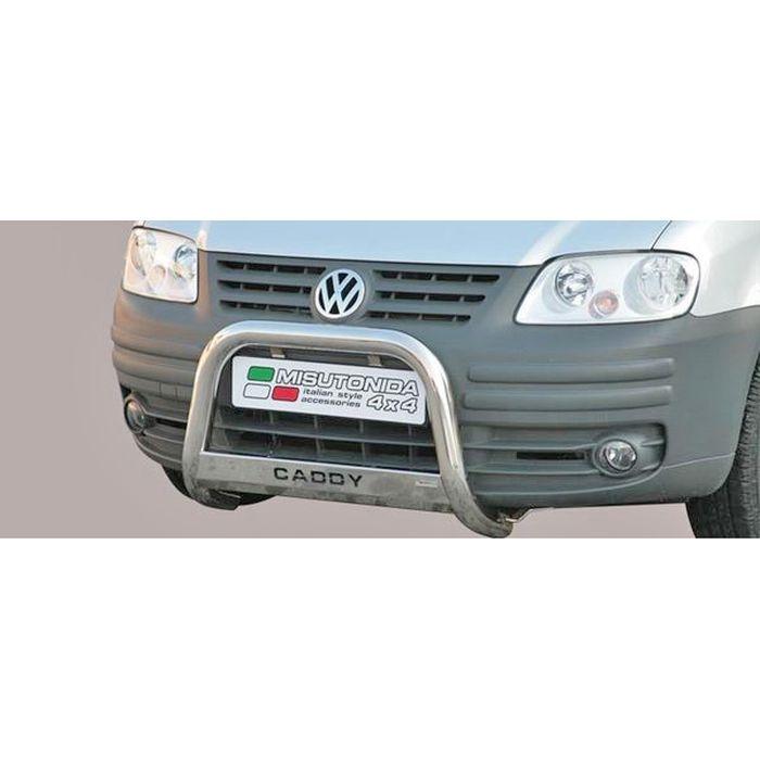 Frontschutzbügel Kuhfänger Bullfänger VW Caddy 2004-2010, Medium Bar Mark 63mm Edelstahl Omologato Inox