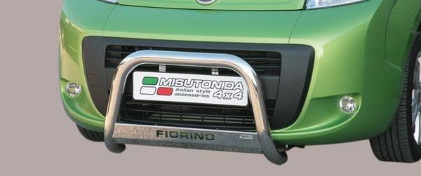 Frontschutzbügel Kuhfänger Bullfänger Fiat Fiorino 2008-, Medium Bar Mark 63mm Edelstahl Omologato Inox