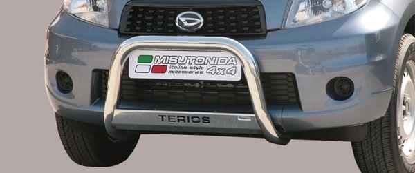 Frontschutzbügel Kuhfänger Bullfänger Daihatsu Terios CX Version 2009-, Medium Bar Mark 63mm Edelstahl Omologato Inox