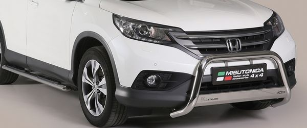 Frontschutzbügel Kuhfänger Bullfänger Honda CR-V 2013-2016, Medium Bar Mark 63mm Edelstahl Omologato Inox