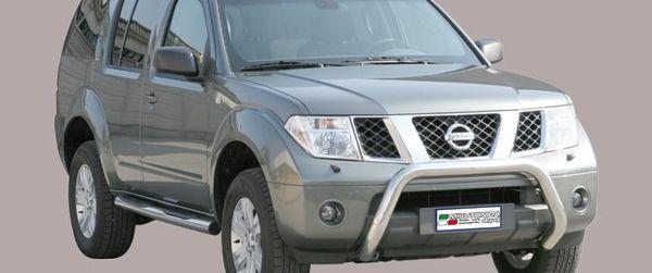 Frontschutzbügel Kuhfänger Bullfänger Nissan Pathfinder 2005-2010, Super Bar 76mm Edelstahl Omologato Inox