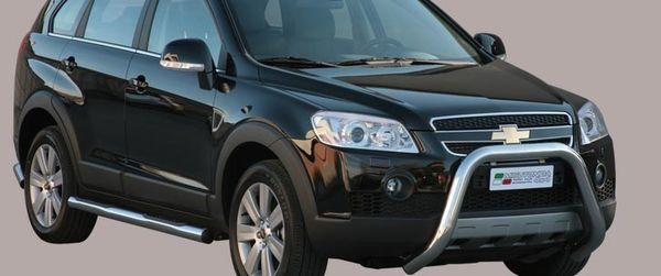 Frontschutzbügel Kuhfänger Bullfänger Chevrolet Captiva 2006-2010, Super Bar 76mm Edelstahl Omologato Inox