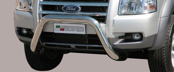 Frontschutzbügel Kuhfänger Bullfänger Ford Ranger 2007-2009, Super Bar 76mm Edelstahl Omologato Inox