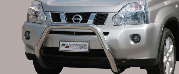 Frontschutzbügel Kuhfänger Bullfänger Nissan X-Trail 2007-2010, Super Bar 76mm Edelstahl Omologato Inox
