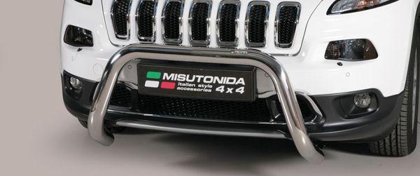 Frontschutzbügel Kuhfänger Bullfänger Jeep Renegade 2014-2018, Super Bar 76mm Edelstahl Omologato Inox