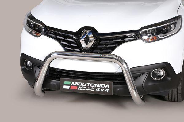 Frontschutzbügel Kuhfänger Bullfänger Renault Kadjar 2016-, Super Bar 76mm Edelstahl Omologato Inox