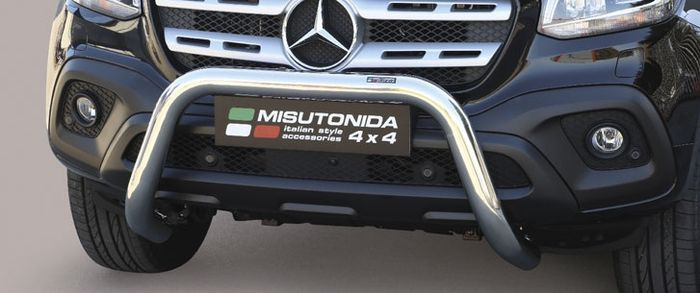 Frontschutzbügel Kuhfänger Bullfänger Mercedes X-Klasse (X470) 2017-, Super Bar 76mm Edelstahl Omologato Inox