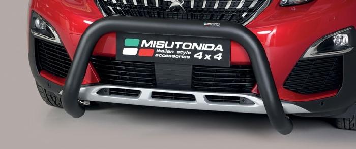 Frontschutzbügel Kuhfänger Bullfänger Peugeot 3008 2016-, Super Bar 76mm schwarz pulverbeschichtet